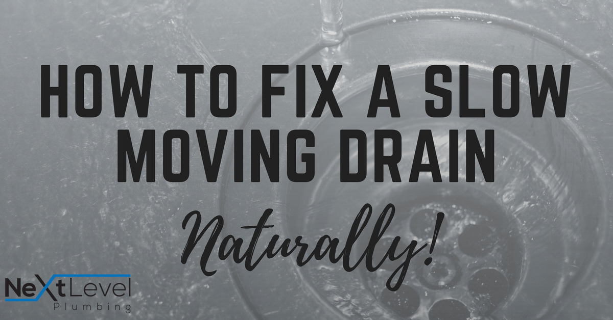 How to Fix A Slow Moving Drain- NATURALLY!
